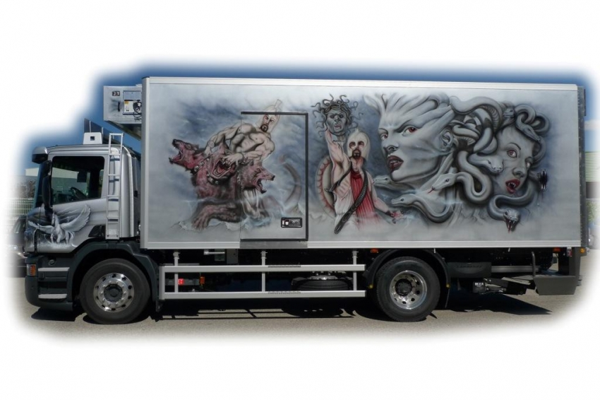 Gorgon, Perseus, Cerberus, Heracles by jcvioly62